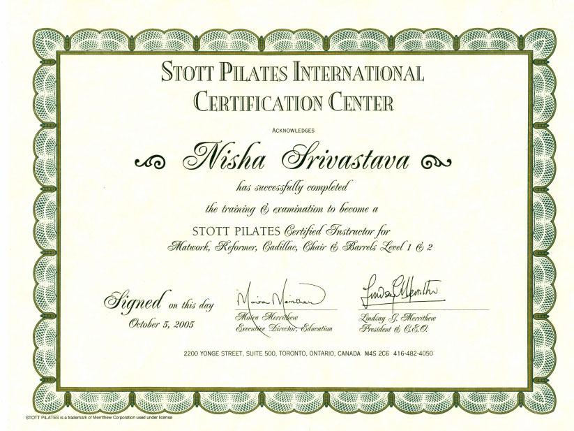 Pilates Instructor Pilates Teacher Nisha Srivastava Pilates