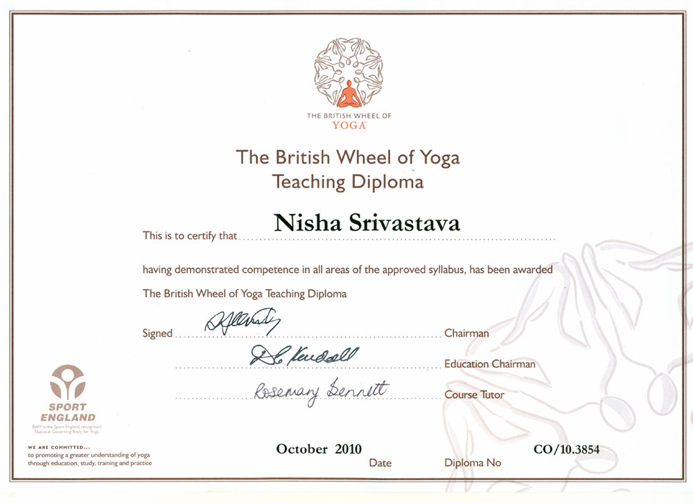 British Wheel of Yoga Diploma