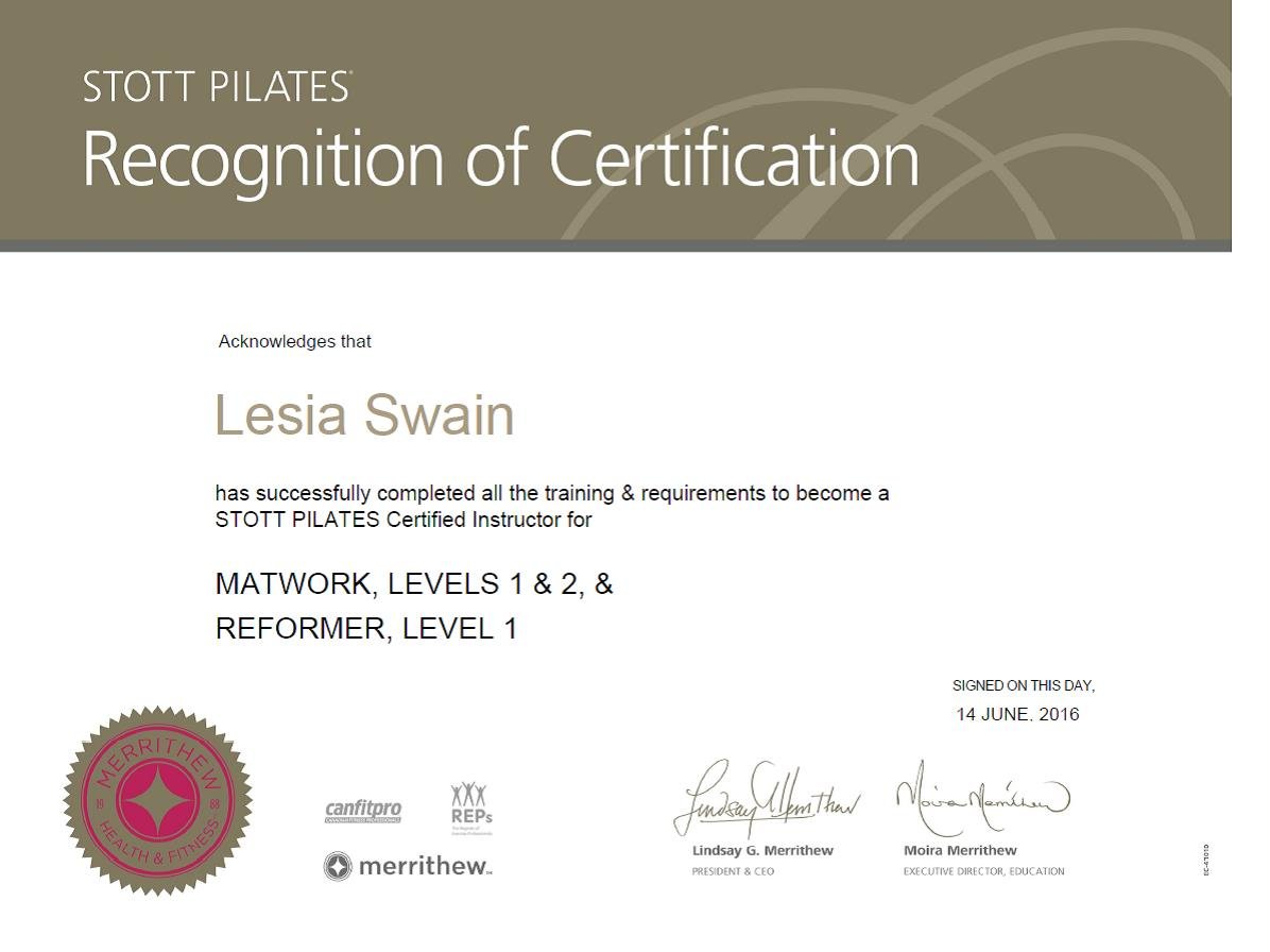 Pilates Instructor Pilates Teacher Leisa Swain Pilates